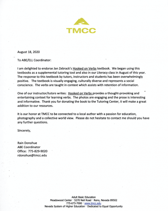 TMCC Letter of Recommendation